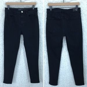 Jegging Ankle Jeans Black High Rise American Eagle